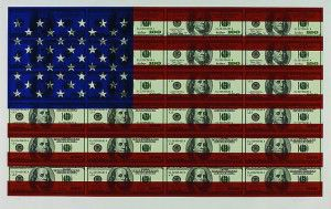 Available at VFA: Steven Gagnon $100. U.S. Flag, 2004, Screenprint on Coventry rag paper, 40 X 63 in., Edition of 100