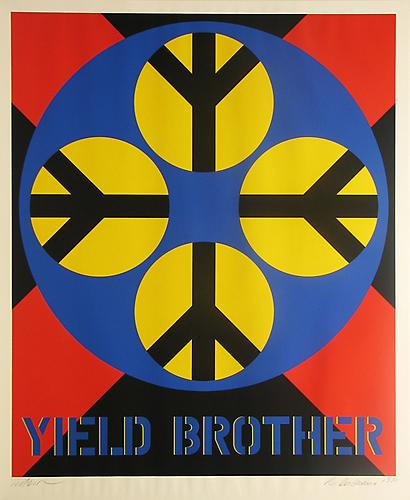 Robert Indiana Yield Brother-from the Decade Series, 1971 Screenprint 35-7/8 X 29-7/8 in.  Edition of 200