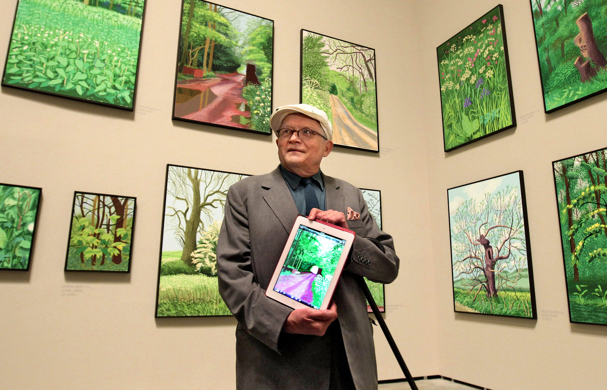 David Hockney with Ipad