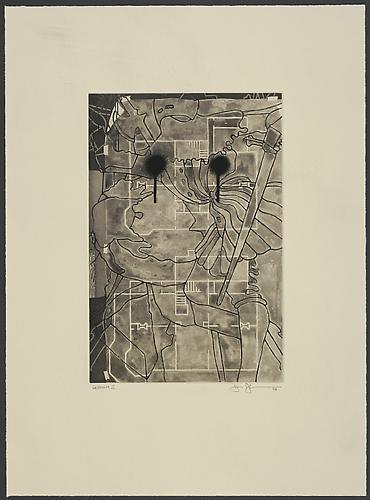 Jasper Johns Untitled - from the Geldzahler Portfolio