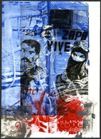 Robert Rauschenberg Epic - (from Ground Rules), 1997 Photogravure, etching and aquatint, 56 X 40-1/2 in., Edition of 44