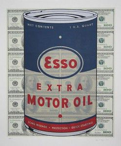 Available at VFA:  Steven Gagnon Esso Oil Can – 2006, Screenprint, 41 X 34 in., Edition of 100