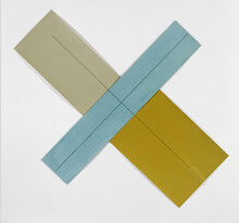 Robert Mangold Three Color X within X, 1981
