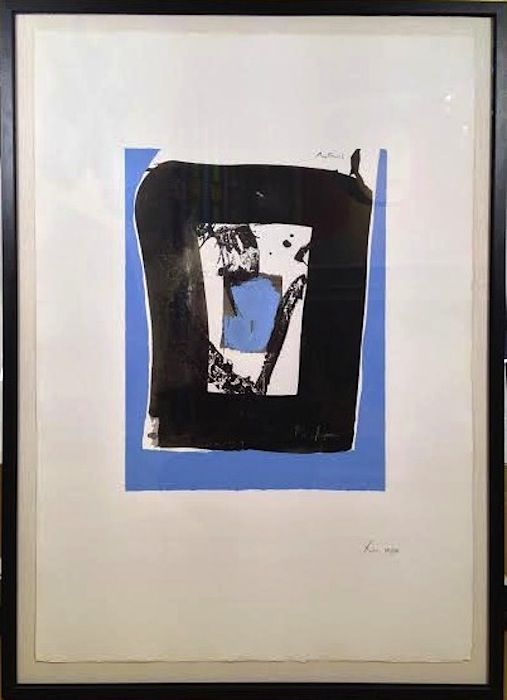 Robert Motherwell Black and Blue from the Basque Series (Belknap 52)