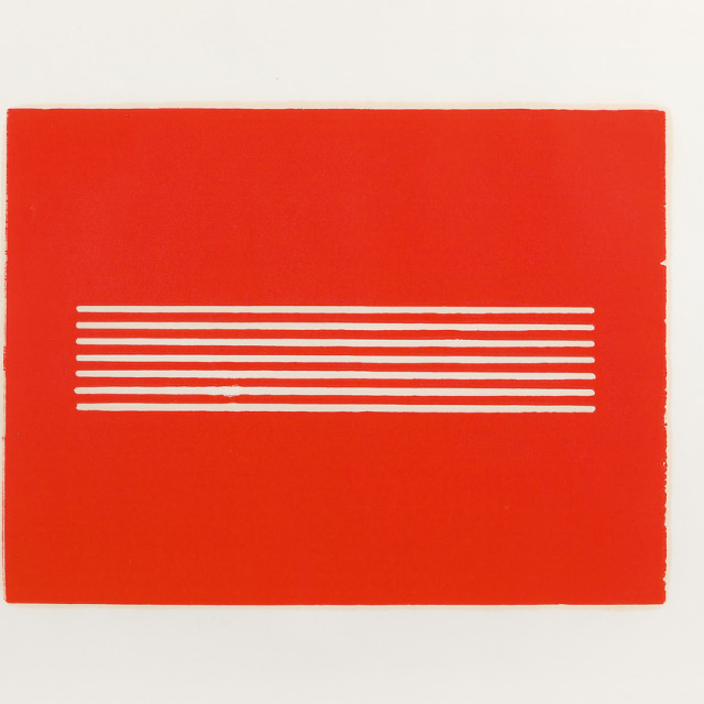 Donald Judd Untitled, 1962 Woodcut