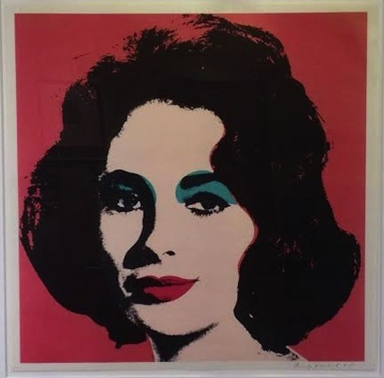 Andy Warhol, Liz 1964, (F&S ll.7), 1964 Offset lithograph, 23.125h X 23.125w in., Approx. edition of 300, Ball point pen signed and dated lower right