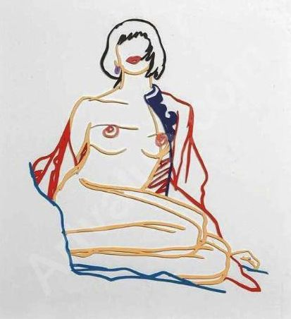 Tom Wesselmann Monica Sitting Undressing 1986