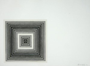 """Available at VFA: Frank Stella Sharpesville from """"Multicolored Squares"""", 1973 Offset Lithograph, 16 X 22 in., Edition of 100"""