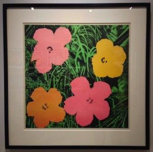 "Andy Warhol Flowers 1964 (F&S II.6), 1964 Offset lithograph 23 X 23 in. Approx. edition of 300 Signed and dated ""Andy Warhol 65"" lower right"