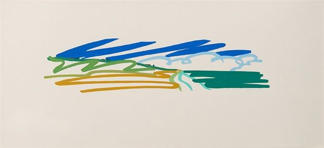 Artwork for Sale - Tom-Wesselmann-Study-for-Seascape-with-Cumulus-Clouds-and-Sky