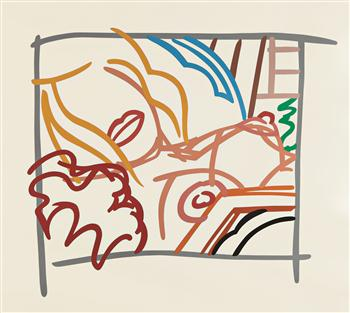 Tom Wesselmann Bedroom Blonde Doodle With Photo