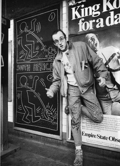 Keith Haring Subway Drawing