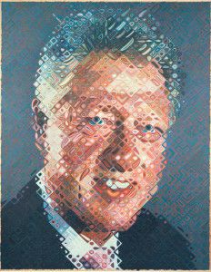Chuck Close Bill Clinton Portrait