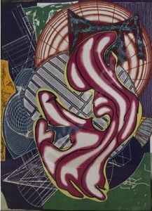 Frank Stella Stubb & Flask Kill A Right Whale-Dome,  From the Moby Dick-Domed Series, 1992