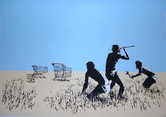 Banksy Trolley Hunters, 2007 Screenprint 22 X 30 in. Edition of 750
