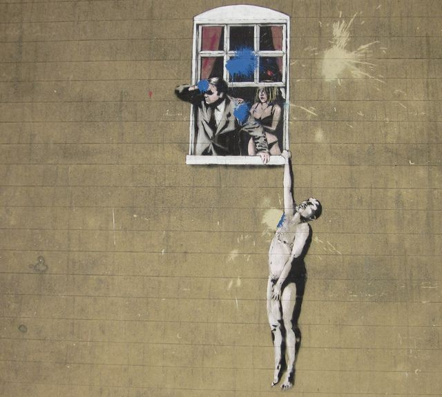 Banksy Naked Man, 2006