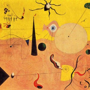 Joan Miro The Hunter (Catalan Landscape), 1924. Oil on canvas, 25 1/2 x 39 ½ in.