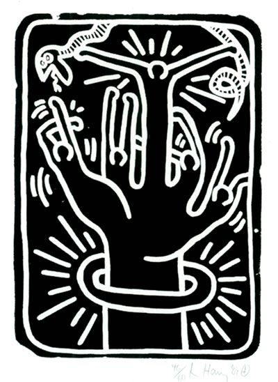 Keith Haring Stones #1, 1989 Lithograph, 30 X 22.25 in., Edition of 60