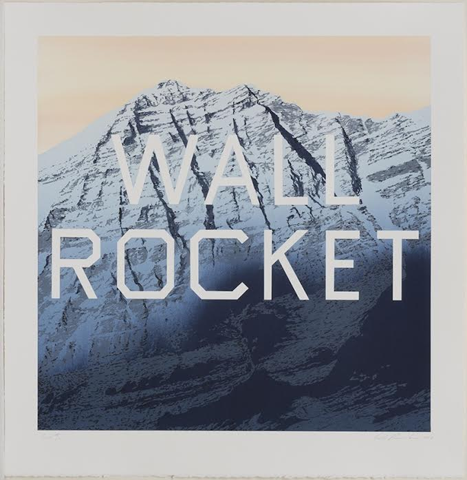Ed Ruscha Wall Rocket, 2013 Lithograph, 28.75 X 28 in., Edition of 60