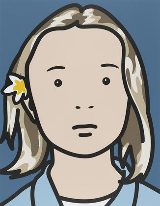 Julian Opie Elena, schoolgirl (with lotus blossom), 2006