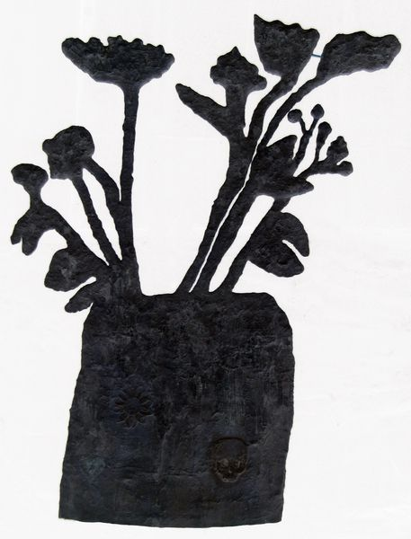 "Donald Baechler ""Untitled (Flowers)"""