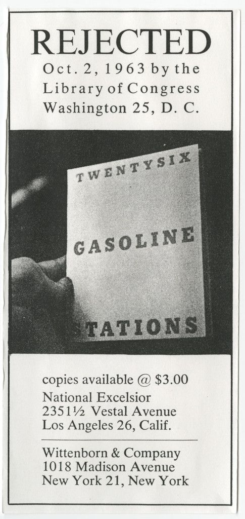 Ruscha Rejected Ad