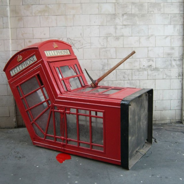 London Phone Booth by Bansky, 2006