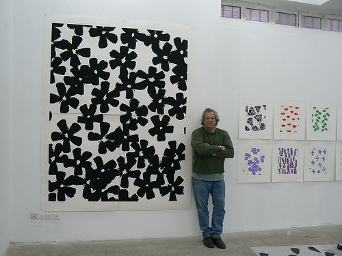 Donald Sultan Wall Flowers