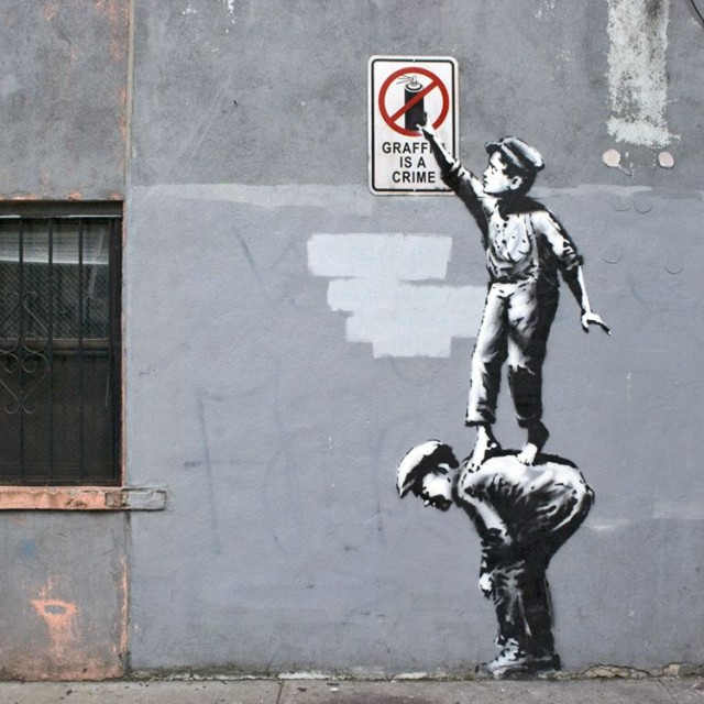 Banksy, Graffiti is a Crime