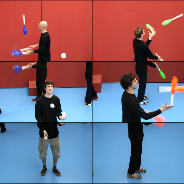 David Hockney Photography The Jugglers