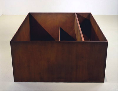 Donald Judd, Untitled (1989), Cor-ten steel