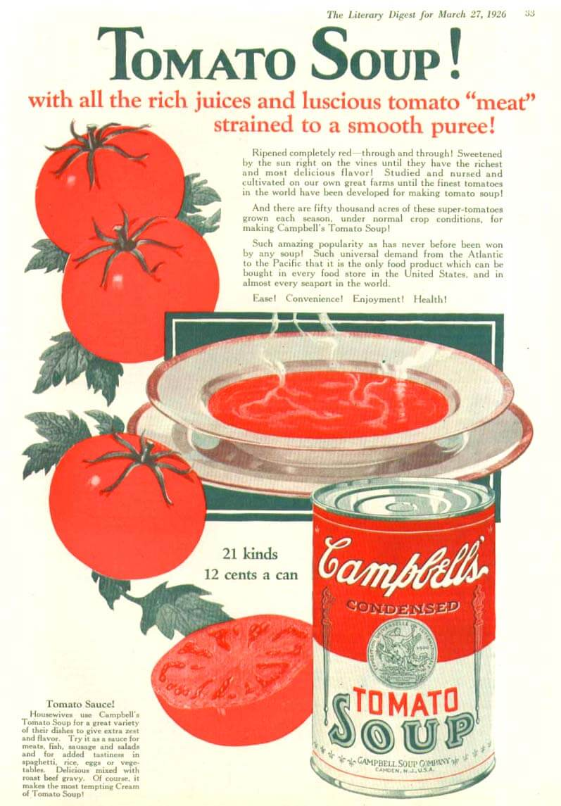 Andy Warhol Influences - Campbells Soup