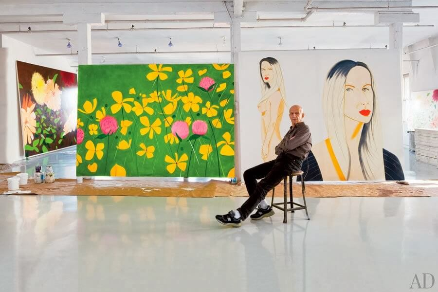 Alex Katz in his SoHo Loft