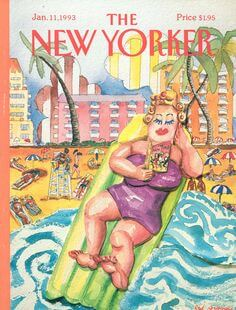 Red Grooms New Yorker Cover. January 11, 1993