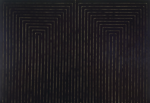 Frank Stella Artwork - the black paintings