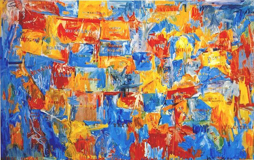 Jasper Johns prints for sale - Map